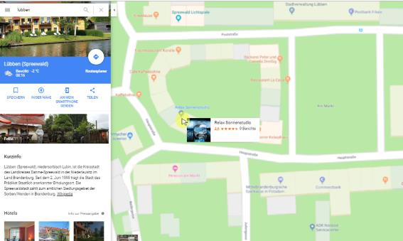 Google My Business - Maps Ansicht