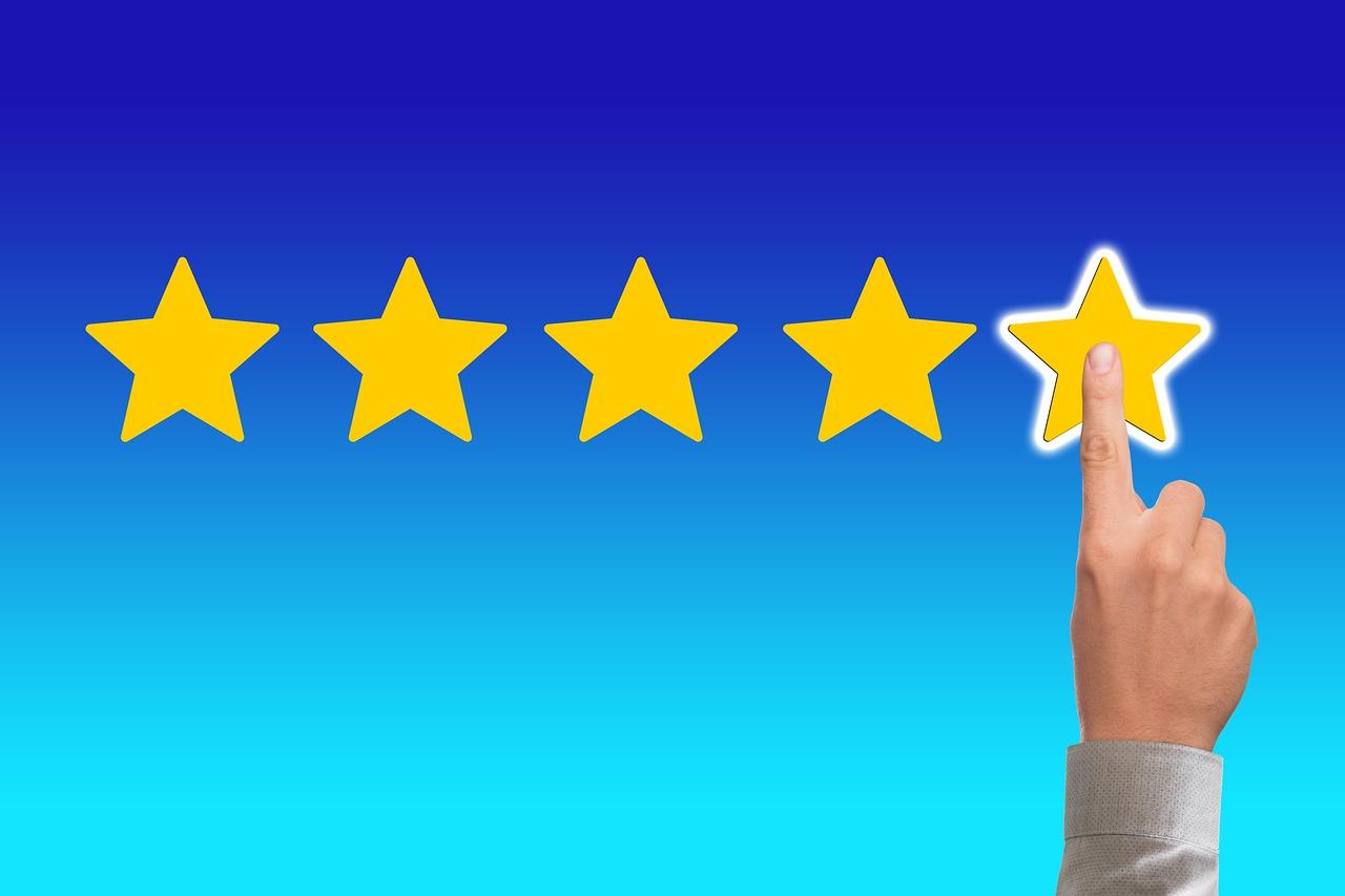 Online-Bewertungen 5-Sterne